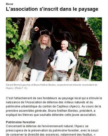 A.P.E.C.C. - Article de Sud-Ouest - 9 juin 2012 - Vignette