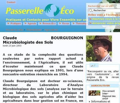 Claude Bourguignon - Vignette