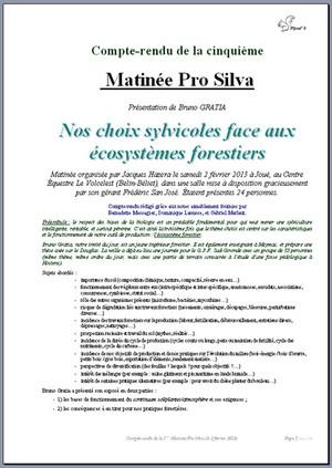 Compte-rendu de la cinquième Matinée Pro Silva - Vignette