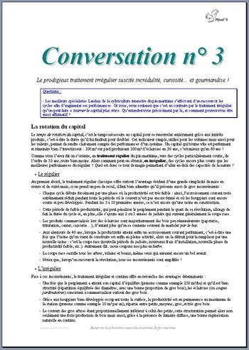 Conversation n° 3 - Vignette