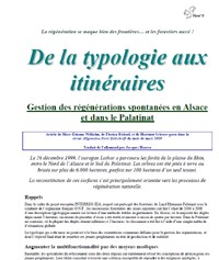 De la typologie aux itinéraires - Vignette