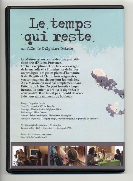 Delphine Détrie - Le temps qui reste (verso pochette) - Vignette