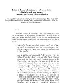 Extrait de la nouvelle de Jean-Louis Sous - Vignette