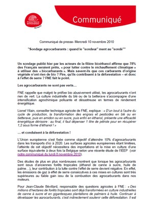 FNE - Les agro-carburants - Vignette