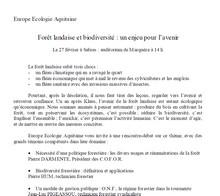 Forêt Landaise et biodiversité - Vignette