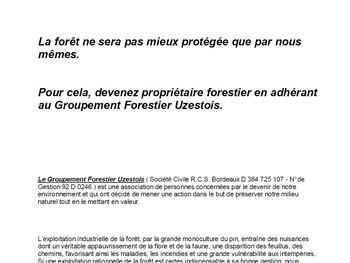 Groupement Forestier Uzestois - Vignette