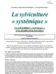 La sylviculture systémique - vignette