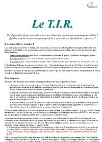 Le TIR - Vignette