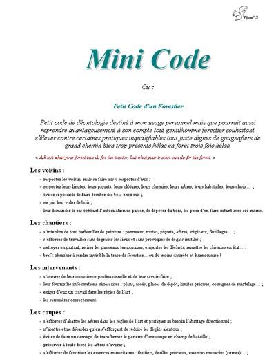 Mini Code - Vignette
