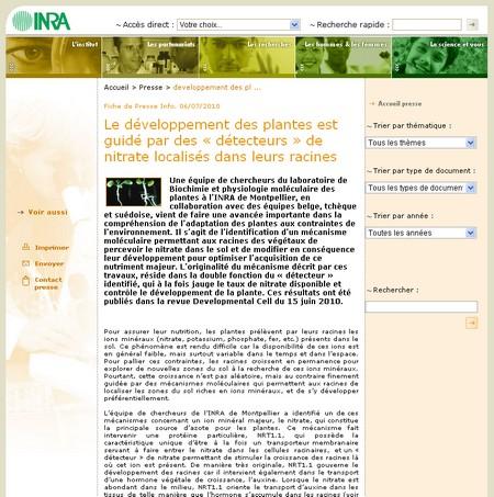 Nitrate et protéine - Vignette