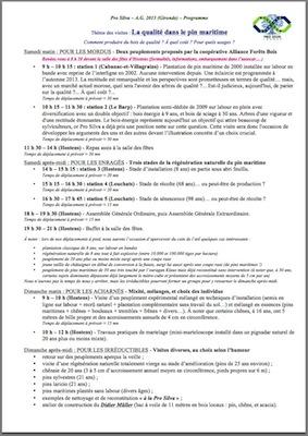 Pro Silva - AG 2013 - Programme détaillé - Vignette