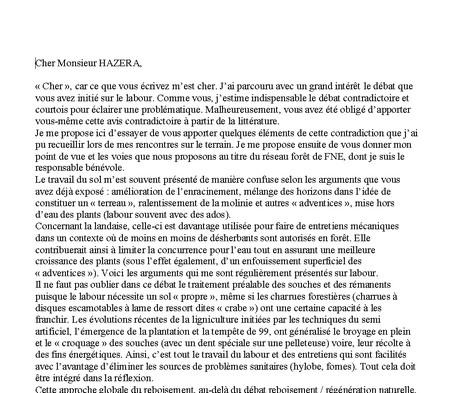 Réaction de François Lefèvre - Vignette