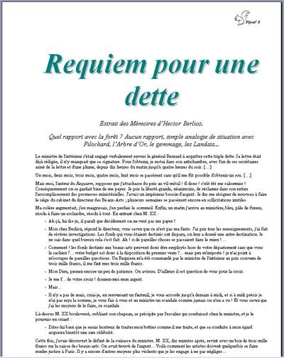 Requiem pour une dette - Vignette