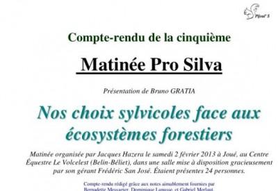 Compte-rendu de la cinquième Matinée Pro Silva - Vignette 2
