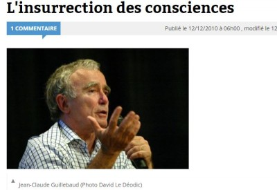 Jean-Claude Guillebaud - L'insurrection des consciences - Vignette