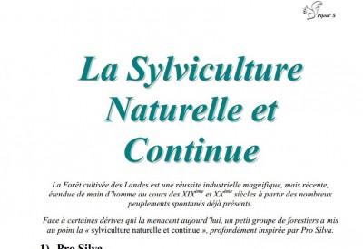 La Sylviculture Naturelle et Continue - Vignette 2