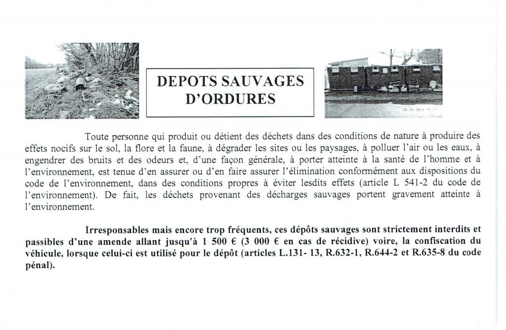 Dépôts sauvages d'ordures - Avertissement dans Lou Sabitout