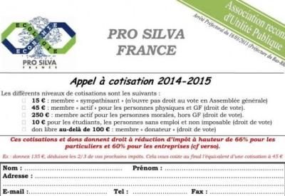 Pro Silva - Bulletin d'adhésion 2015 - Vignette 2