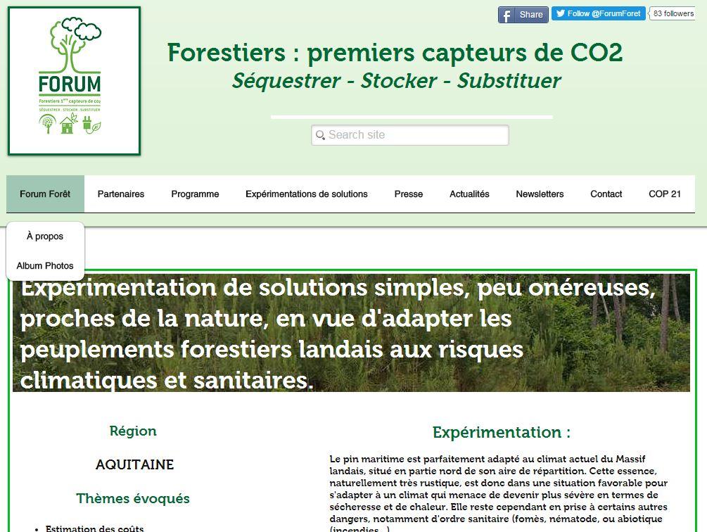 Forum forêt - COP 21 - Ma contribution 2 - Vignette