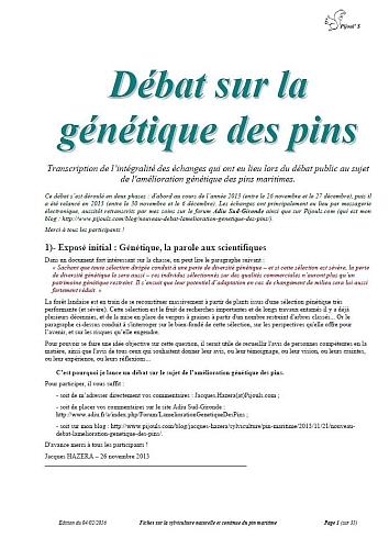Débat sur la génétique des pins - Vignette 3