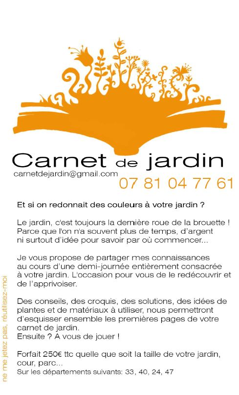 Carnet de jardin - Vignette 2