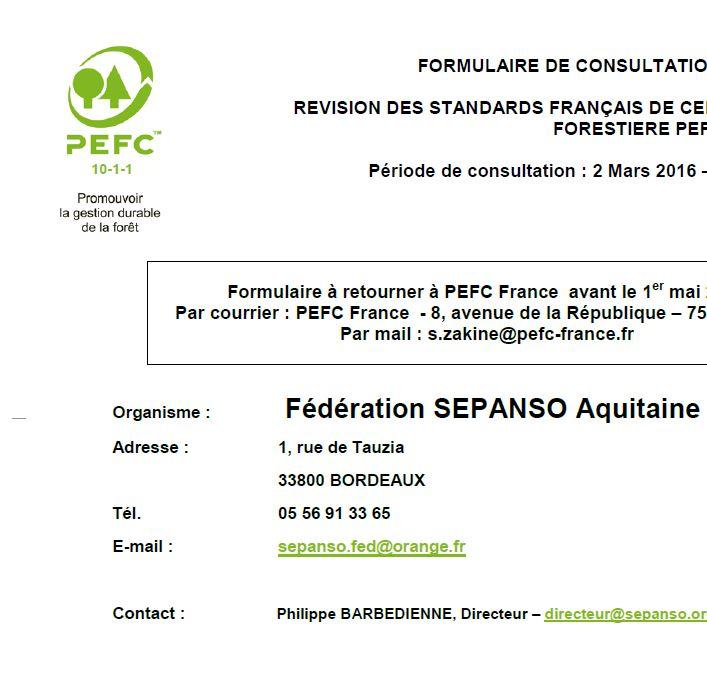 Avis SEPANSO consultation_publique_PEFC_2016 - Vignette