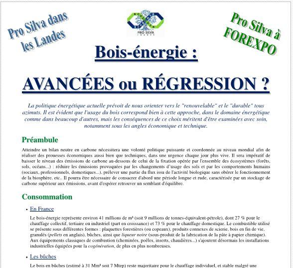 Bois-énergie - AVANCÉES ou RÉGRESSION - Vignette