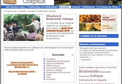 Colloque 2016 au Domaine de la Chapelle - Vignette