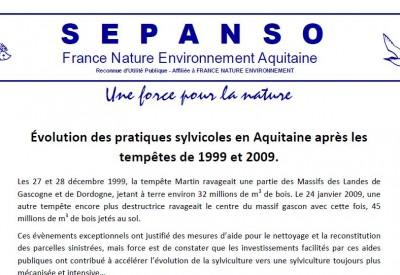 SEPANSO - Évolution des pratiques sylvicoles - Vignette