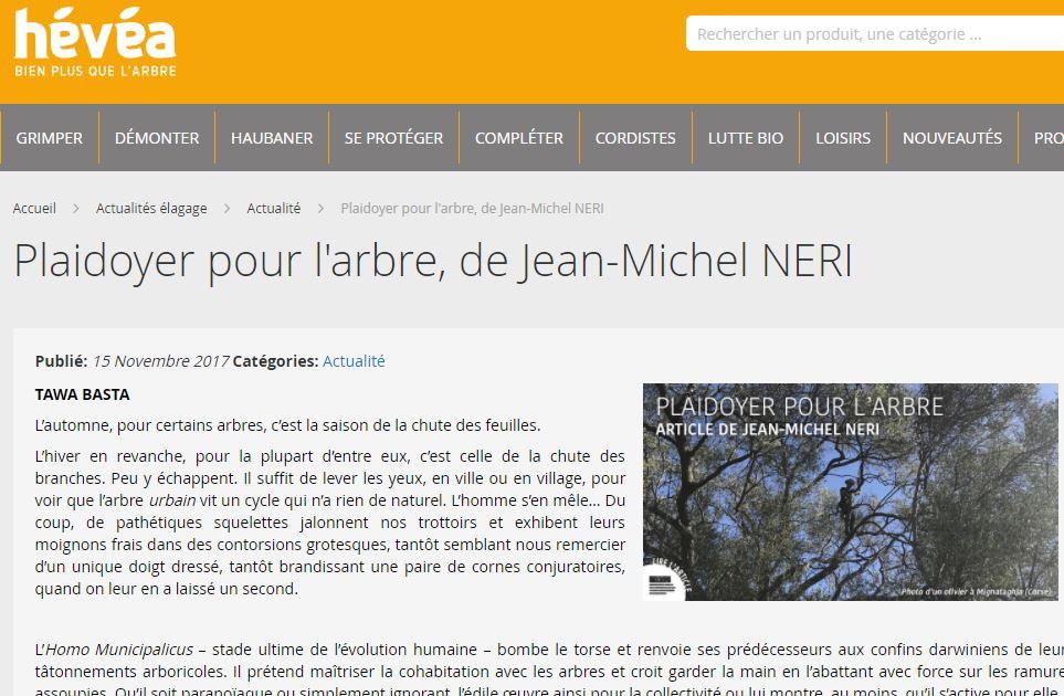 Néri - Plaidoyer pour l'arbre - Vignette