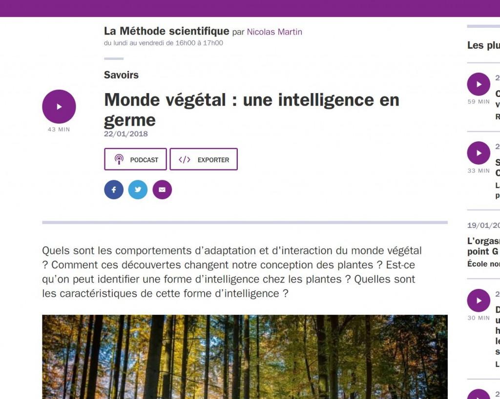 Monde végétal - Une intelligence en germe - Vignette