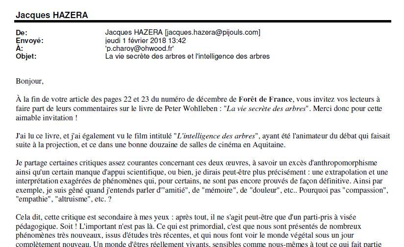 Ma réaction - Forêts de France - La vie secrète des arbres - Vignette