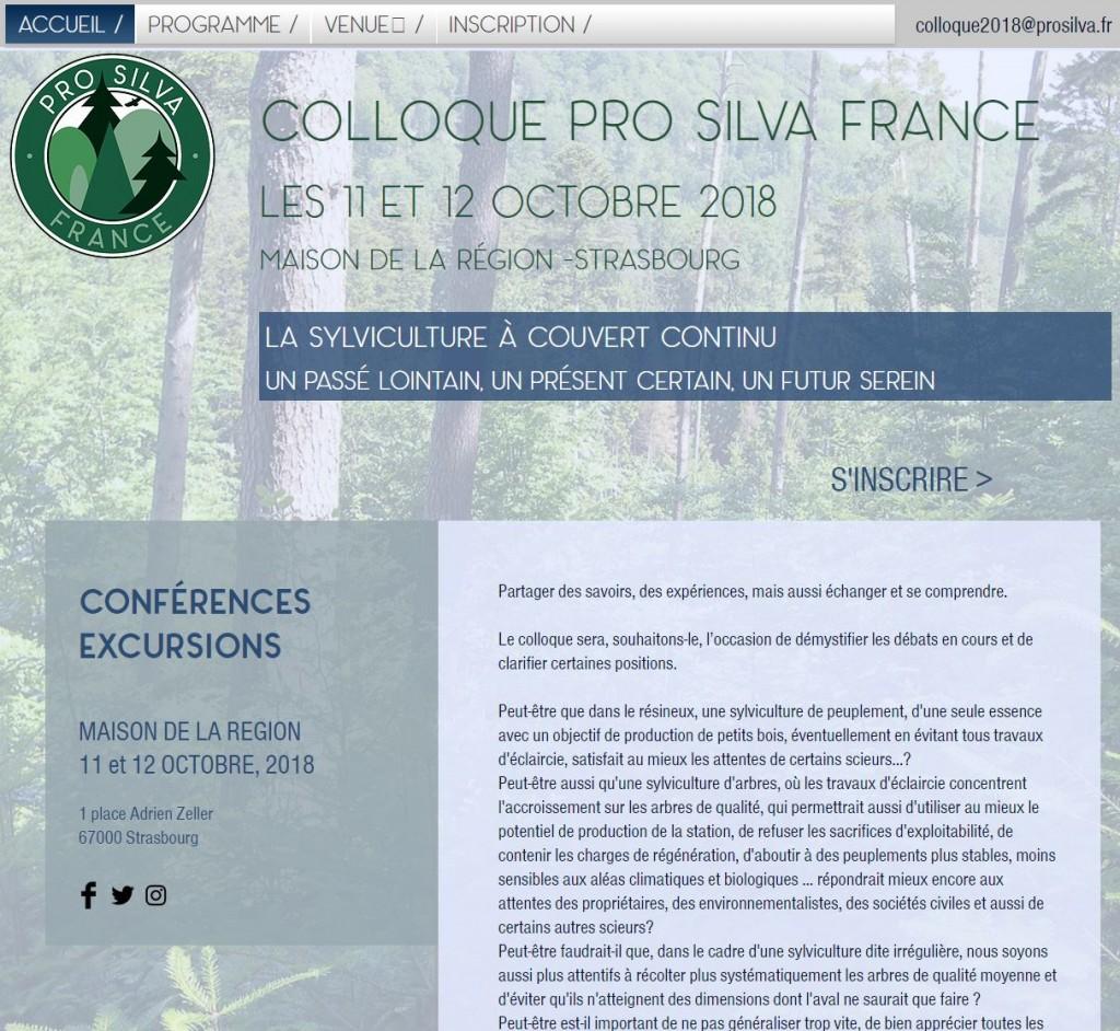 Pro Silva - Colloque - Vignette